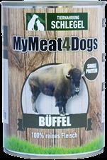 12 Dosen zu je 410g MyMeat4Dogs Büffel
