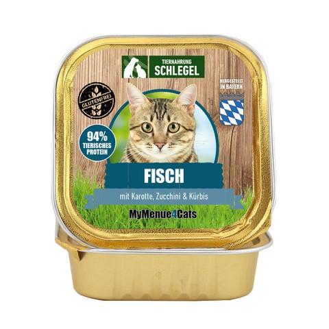 Fisch mit Karotte, Zucchini & Kürbis 100g Schale
