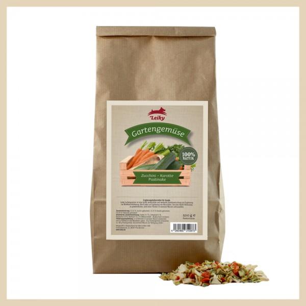 Gartengemüse Zucchini, Karotte, Pastinake getrocknet