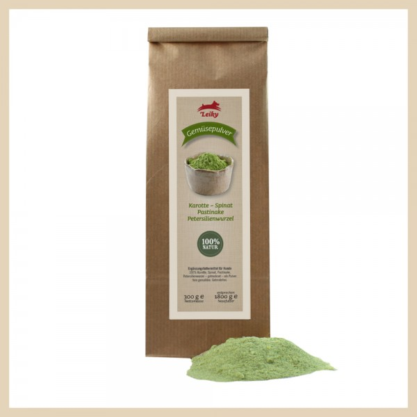 100% Karotte, Spinat, Pastinake, Petersilienwurzel – getrocknet – als Pulver