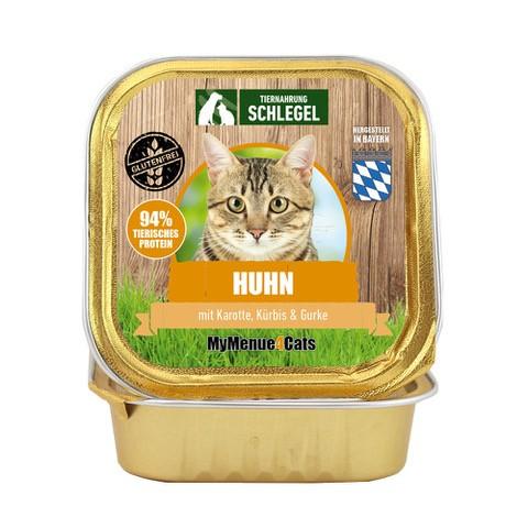 Huhn mit Karotte, Kürbis & Gurke 100g Schale