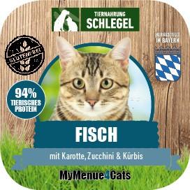 Fisch mit Karotte, Zucchini & Kürbis 410g Dose